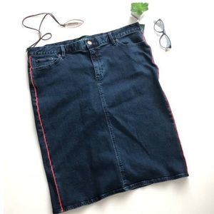 LRL Denim Pencil Skirt